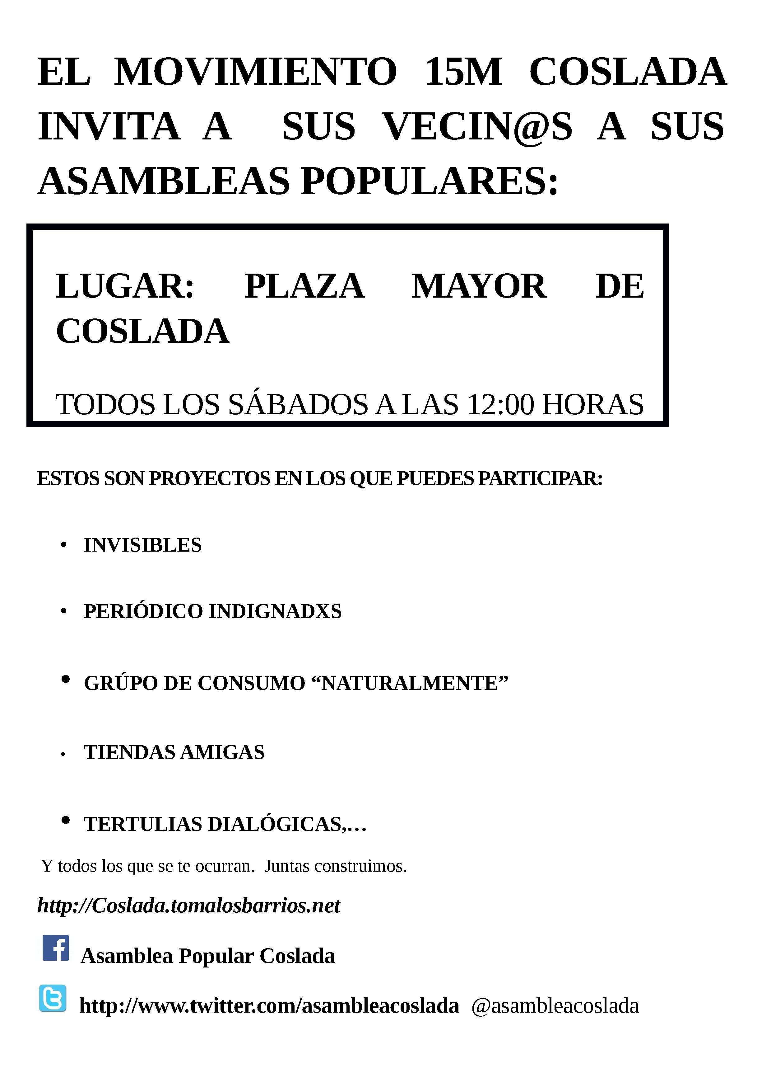 Cartel Asambleas